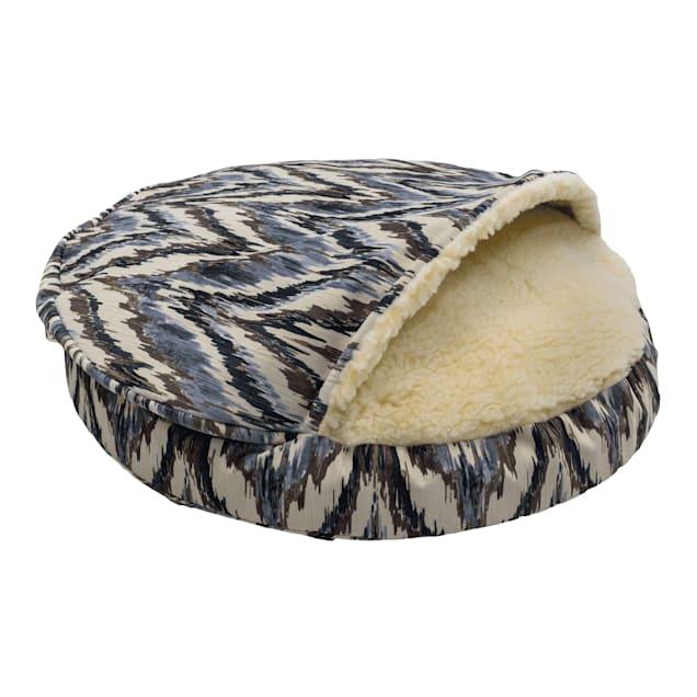 """Snoozer Orthopedic Premium Micro Suede Cozy Cave Pet Bed in Tempest Indigo, 35"""" L x 35"""" W - Carousel image #1"""
