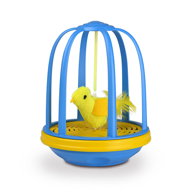 Our Pet's Bird in a Cage Electronic Cat Toy, Large - Carousel image #1