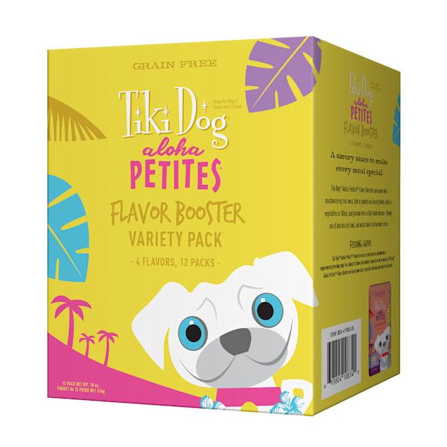 Tiki Dog Aloha Petites Variety Pack Small Breed Dog Treat, 1.5 oz. pouch, Case of 12 - Carousel image #1