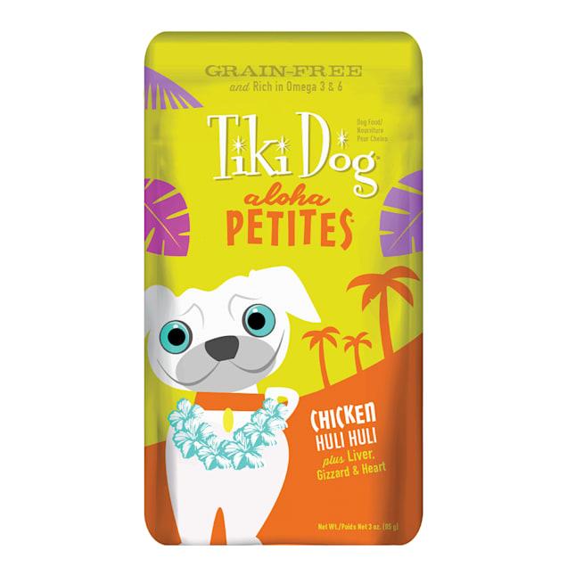 Tiki Dog Aloha Petites Chicken Huli Huli Small Breed Dog Food Pouches, 3.5 oz., Case of 12 - Carousel image #1