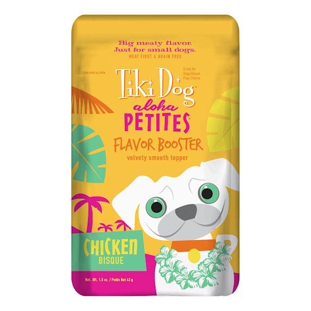 Tiki Dog Aloha Petites Chicken Bisque Small Breed Dog Treat Pouches, 1.5 oz., Case of 12 - Carousel image #1
