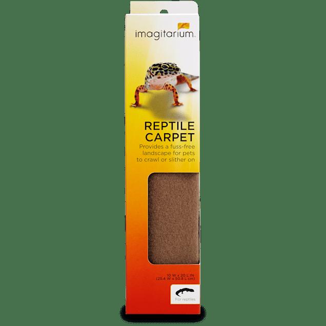"Imagitarium Tan Reptile Carpet, 10"" W x 20"" L - Carousel image #1"