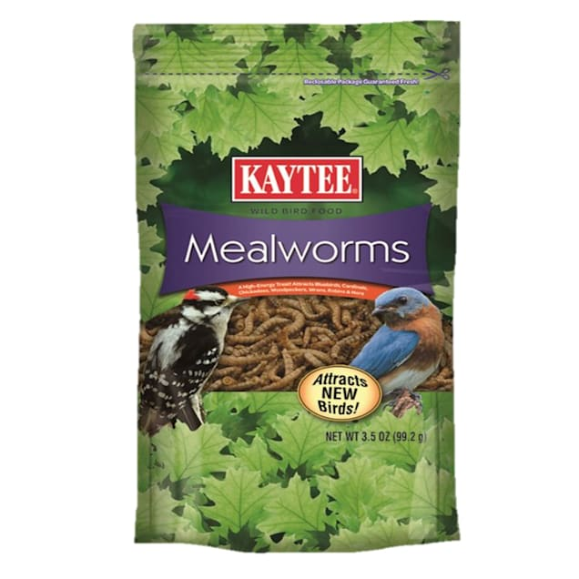 Kaytee Wild Bird Mealworm Pouch, 3.5 oz. - Carousel image #1