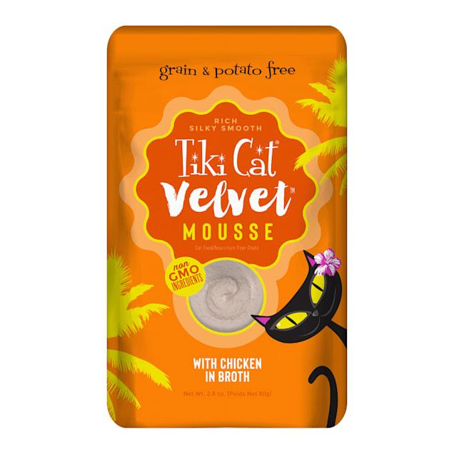 Tiki Cat Velvet Mousse Chicken Wet Cat Food Pouch, 2.8 oz., Case of 12 - Carousel image #1