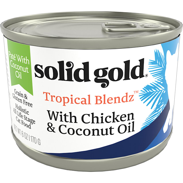 Solid Gold Tropical Blendz Chicken & Coconut Oil Pate Wet Cat Food, 6 oz., Case of 8 - Carousel image #1