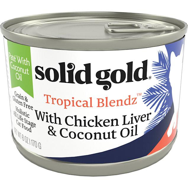 Solid Gold Tropical Blendz Chicken Liver & Coconut Oil Pate Wet Cat Food, 6 oz., Case of 8 - Carousel image #1