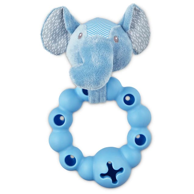 """Leaps & Bounds Little Chews Treat Dispensing Ring Puppy Toy, 8"""" - Carousel image #1"""