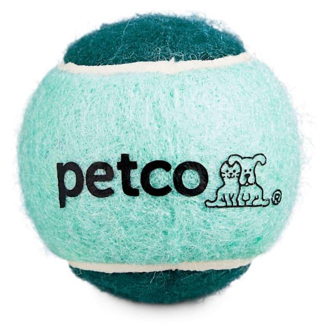 "Petco Tennis Ball Dog Toy in Teal, 2.5"" - Carousel image #1"