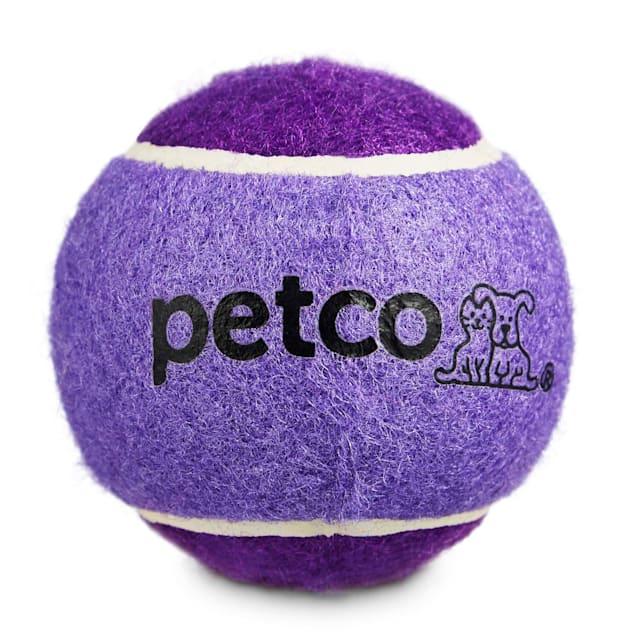 "Petco Tennis Ball Dog Toy in Dark Blue 2.5"" - Carousel image #1"