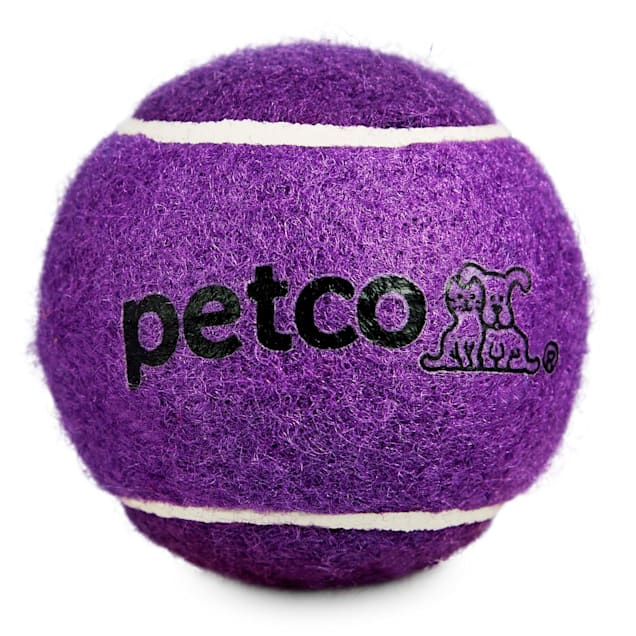 "Petco Tennis Ball Dog Toy in Purple, 2.5"" - Carousel image #1"