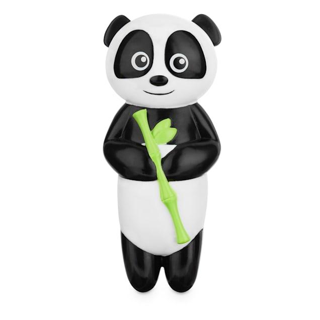 Leaps & Bounds Chomp and Chew Vinyl Panda Dog Toy, Medium - Carousel image #1