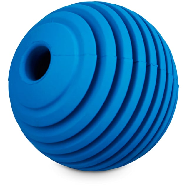 Leaps & Bounds Ribbed Rubber Ball Dog Toy in Assorted Colors, Small - Carousel image #1