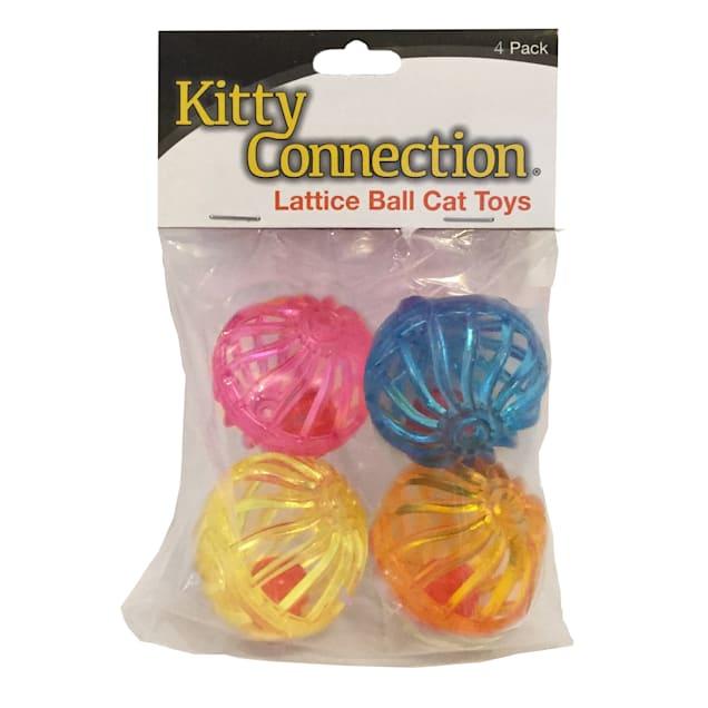 Innovation Pet Kitty Connection Lattice Balls 4-Pack - Carousel image #1