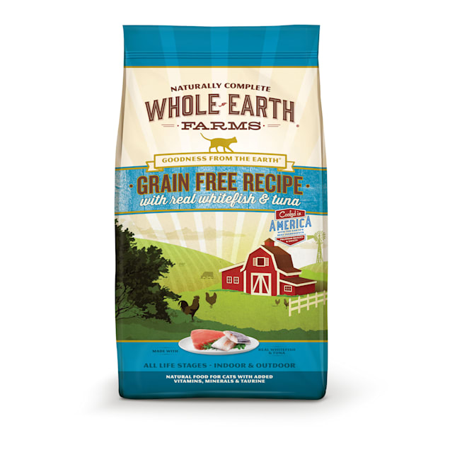 Whole Earth Farms Grain Free Whitefish & Tuna Recipe Cat Dry Food, 10 lbs. - Carousel image #1