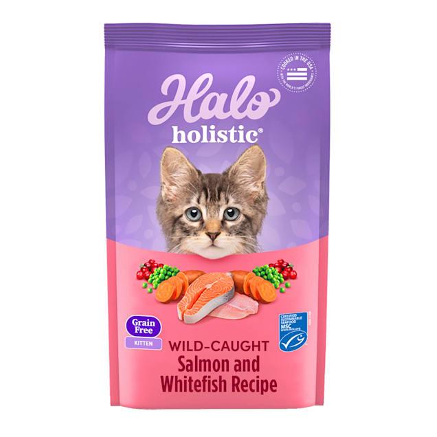 Halo Kitten Grain Free Holistic Wild Salmon & Whitefish Liver Dry Cat Food, 3 lbs. - Carousel image #1