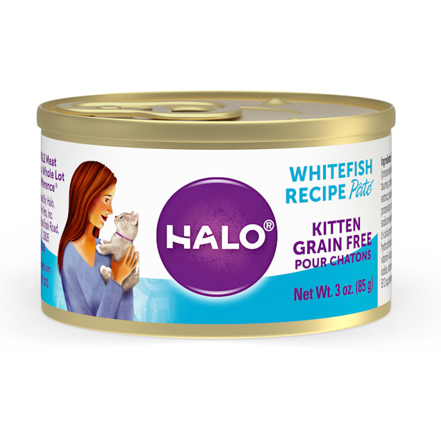 Halo Grain Free Whitefish Wet Canned Kitten Food, 3 oz., Case of 12 - Carousel image #1