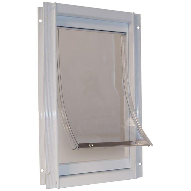 Perfect Pet Deluxe Aluminum Pet Door in White, 9.9375IN x 2.125IN x 15IN - Carousel image #1