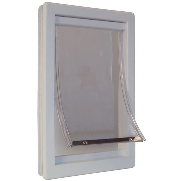 Perfect Pet Plastic Pet Door in White, 8.9375IN x 2.125IN x 14.875IN - Carousel image #1
