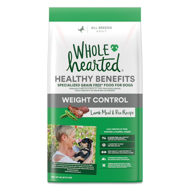 WholeHearted Healthy Benefits Weight Control Lamb and Pea Recipe Dry Dog Food, 25 lbs. - Carousel image #1