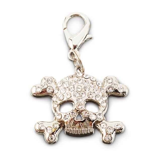 Bond & Co. Sparkle Skull Dog Collar Charm, Large - Carousel image #1