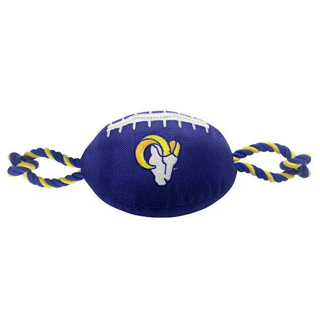 Pets First Los Angeles Rams Football Dog Toy, Medium - Carousel image #1