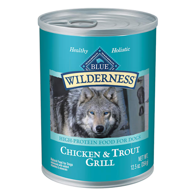 Blue Buffalo BLUE Wilderness Trout & Chicken Grill Wet Dog Food, 12.5 oz., Case of 12. - Carousel image #1