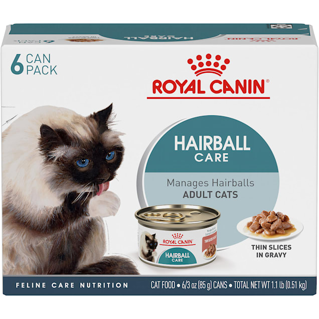 Royal Canin Hairball Care Thin Slices in Gravy Wet Cat Food Multipack, 3 oz., Count of 6 - Carousel image #1