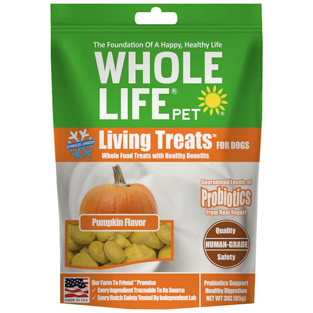 Whole Life Pet Living Treats USA Freeze Dried Pumpkin Treats for Dogs, 3 oz. - Carousel image #1