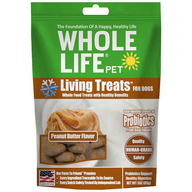 Whole Life Pet Living Treats USA Freeze Dried Peanut Butter Treats for Dogs, 3 oz. - Carousel image #1