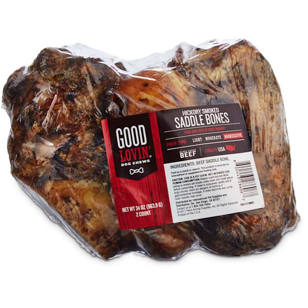 Good Lovin' Hickory Smoked Saddle Bone Dog Chews, Pack of 2 - Carousel image #1