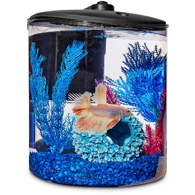 Imagitarium Cylindrical Betta Fish Desktop Tank Kit, 1.6 gal. - Carousel image #1