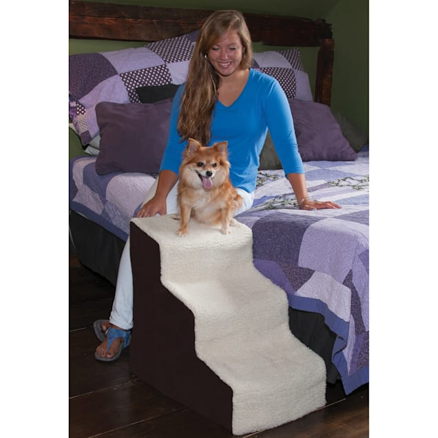 Pet Gear Easy Step III Deluxe Soft Pet Step in Oatmeal & Chocolate - Carousel image #1