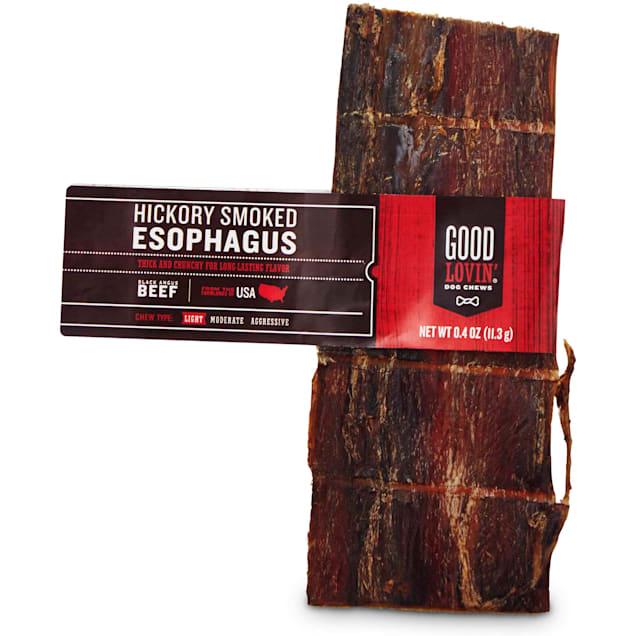 Good Lovin' Hickory Smoked Esophagus Dog Chew, 6-inch - Carousel image #1