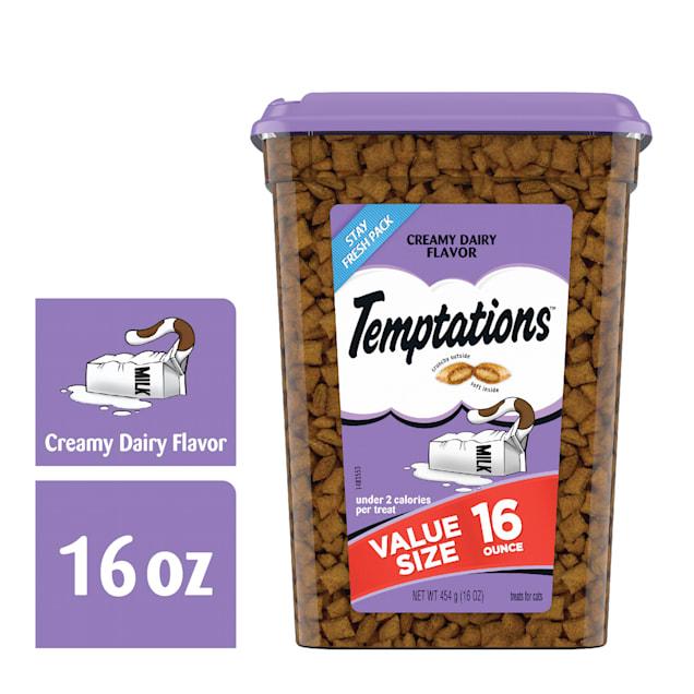 Temptations Classics Creamy Dairy Flavor Crunchy and Soft Cat Treats, 16 oz. - Carousel image #1