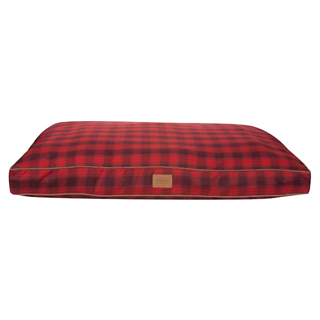 """Pendleton Plaid Pet Bed in Red Ombre, 48"""" L x 36"""" W - Carousel image #1"""