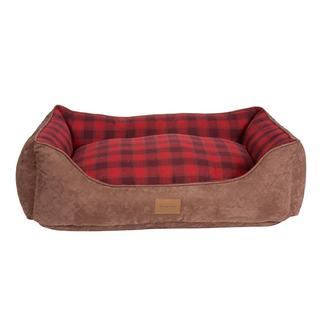 """Pendleton Plaid Kuddler in Red Ombre, 35"""" L x 26"""" W - Carousel image #1"""
