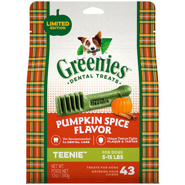 Greenies Pumpkin Spice Flavor Teenie Dog Dental Chews, 12 oz. - Carousel image #1