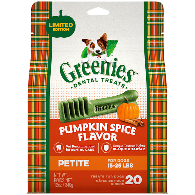 Greenies Pumpkin Spice Flavor Petite Dog Dental Chews, 12 oz. - Carousel image #1