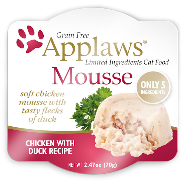 Applaws Chicken and Duck Mousse Wet Cat Food, 2.47 oz., Case of 12 - Carousel image #1