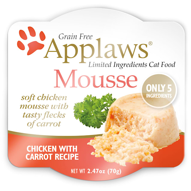 Applaws Chicken and Carrot Mousse Wet Cat Food, 2.47 oz., Case of 12 - Carousel image #1