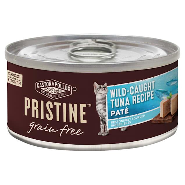 Castor & Pollux Pristine Grain Free Wild-Caught Tuna Recipe Canned Wet Cat Food, 5.5 oz., Case of 24 - Carousel image #1