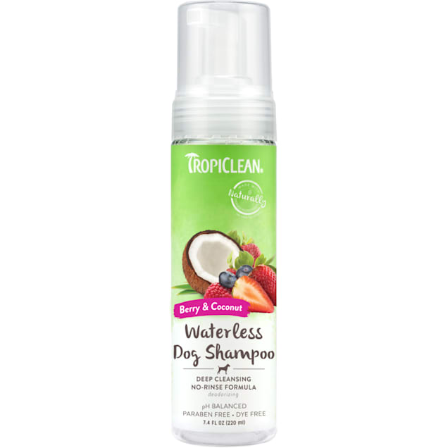 TropiClean Berry & Coconut Deep Cleansing Waterless Shampoo for Dogs, 7.4 fl. oz. - Carousel image #1