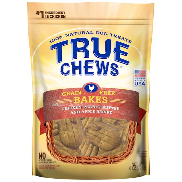 True Chews Grain Free Bakes Chicken Peanut Butter & Apple Recipe Dog Treats, 8 oz. - Carousel image #1