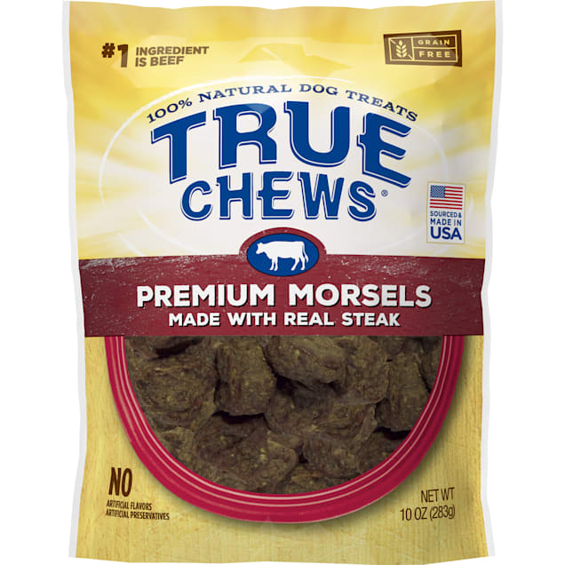 True Chews Premium Morsels Made With Real Steak Dog Treats, 10 oz. - Carousel image #1