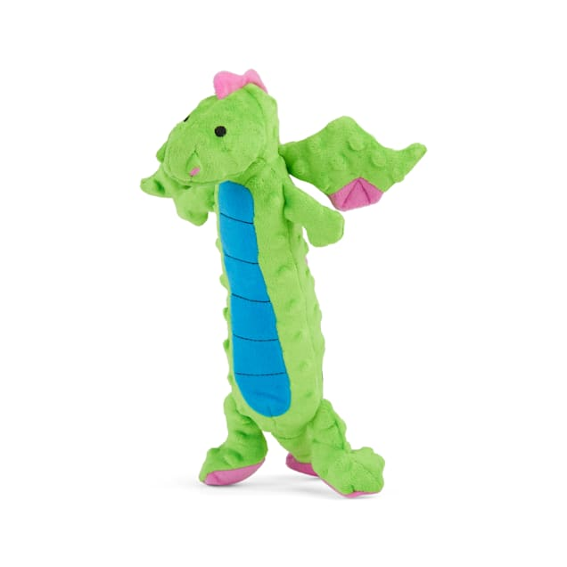 goDog Dragons Skinny Green Large With Chew Guard Blue, Large - Carousel image #1
