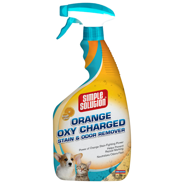 Simple Solution Orange Oxy Charged Stain+Odor Remover, 32 fl. oz. - Carousel image #1