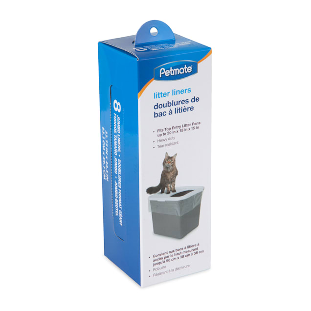 Petmate Top Entry Litter Pan Liners for Cat, Count of 8 - Carousel image #1