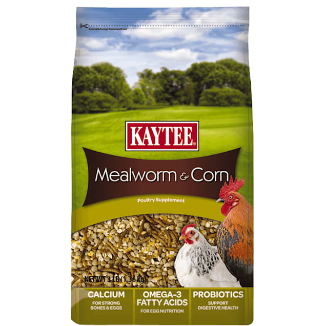 Kaytee Mealworms and Corn Poultry Supplement, 3 lbs. - Carousel image #1
