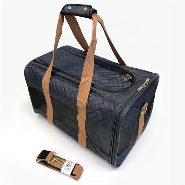 Sherpa Original Deluxe Charcoal and Camel Pet Carrier, Large - Carousel image #1