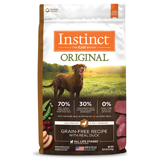 Instinct Original Grain-Free Recipe with Real Duck Freeze-Dried Raw Coated Dry Dog Food, 20 lbs. - Carousel image #1
